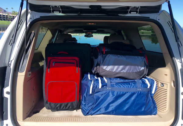 Excellent Luggage Space for Rent in the Chevy Surburban