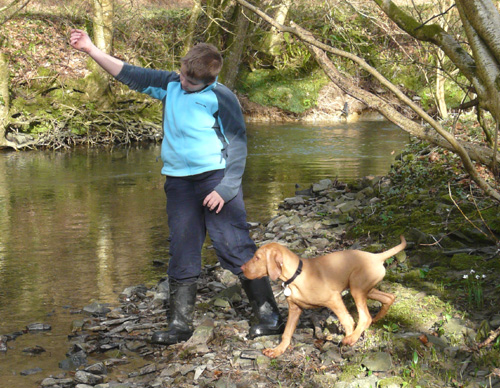 With Fred in the River.