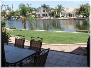 Backyard waterfront lake picture