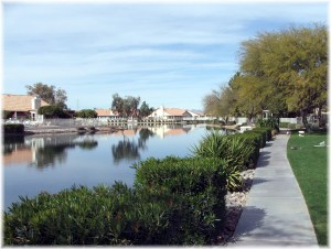 Ventana Lakes Walking Paths one of many amenities such as community pools in Sun City and Peoria