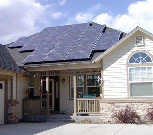 Solar house front