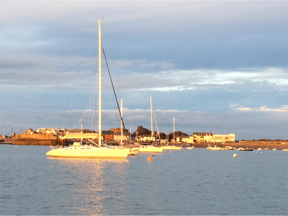 Skerries Bay in the evening sunshine