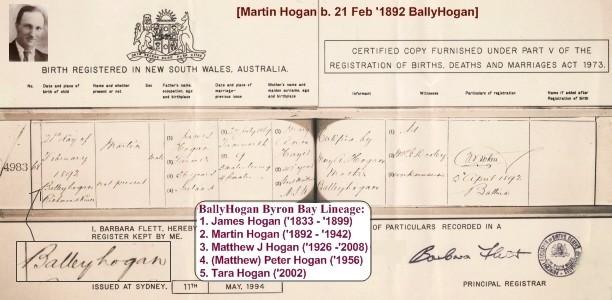 Martin Hogan BallyHogan 1892