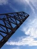 Bridge and blue sky.
