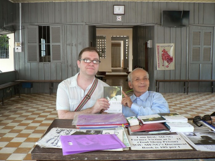 James and Bou Meng, one of 12 survivors of Toul Sleng