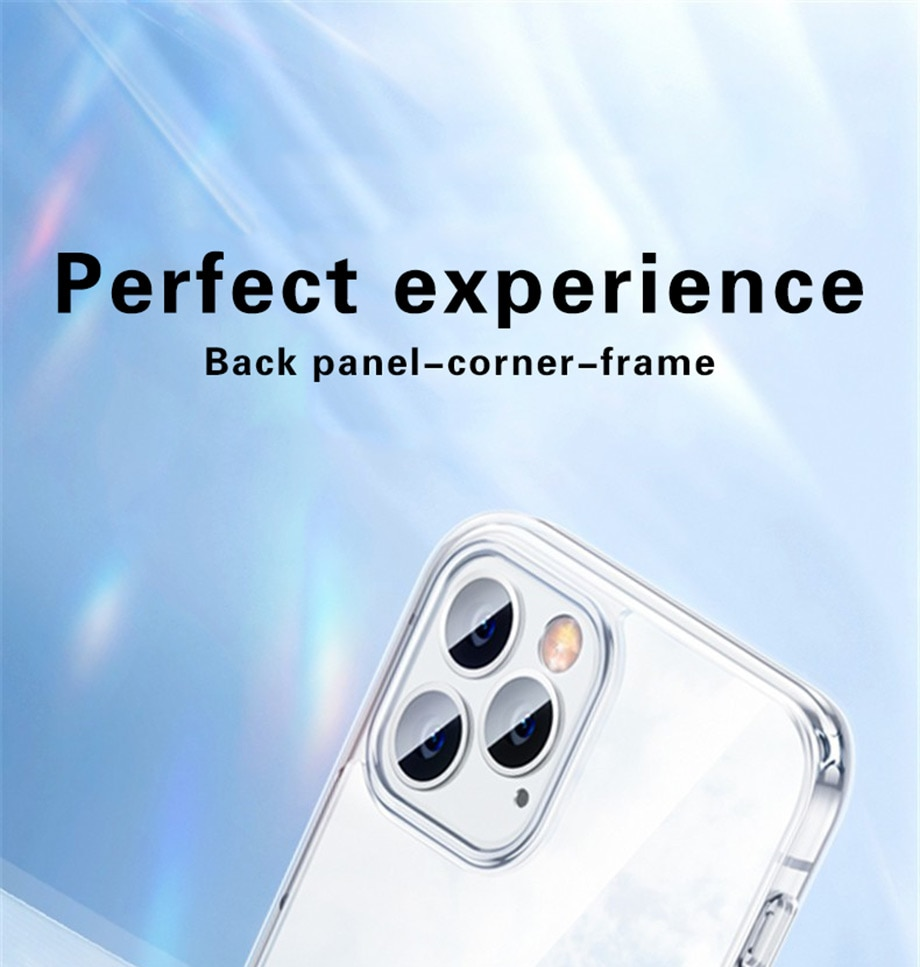 Ultra Thin Clear Phone Case For iPhone 11 12 Case Silicone Soft Back Cover For iPhone 11 12 Pro XS Max X 8 7 6 Plus 5 SE XR Case