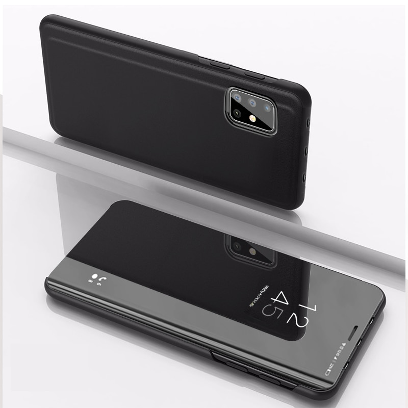 Smart Mirror Flip Phone Case For Samsung Galaxy A12 A52 A72 A32 A50 A70 A51 A71 A31 A20E A11 A10E A10S A20S A21S A7 A8 A9 2018