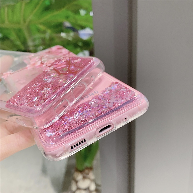 For Samsung Galaxy S21 Ultra Case Bling Glitter Quicksand Soft Silicone Phone Cases For GalaxyS21 S 21 Plus S21+ S21Ultra Cover