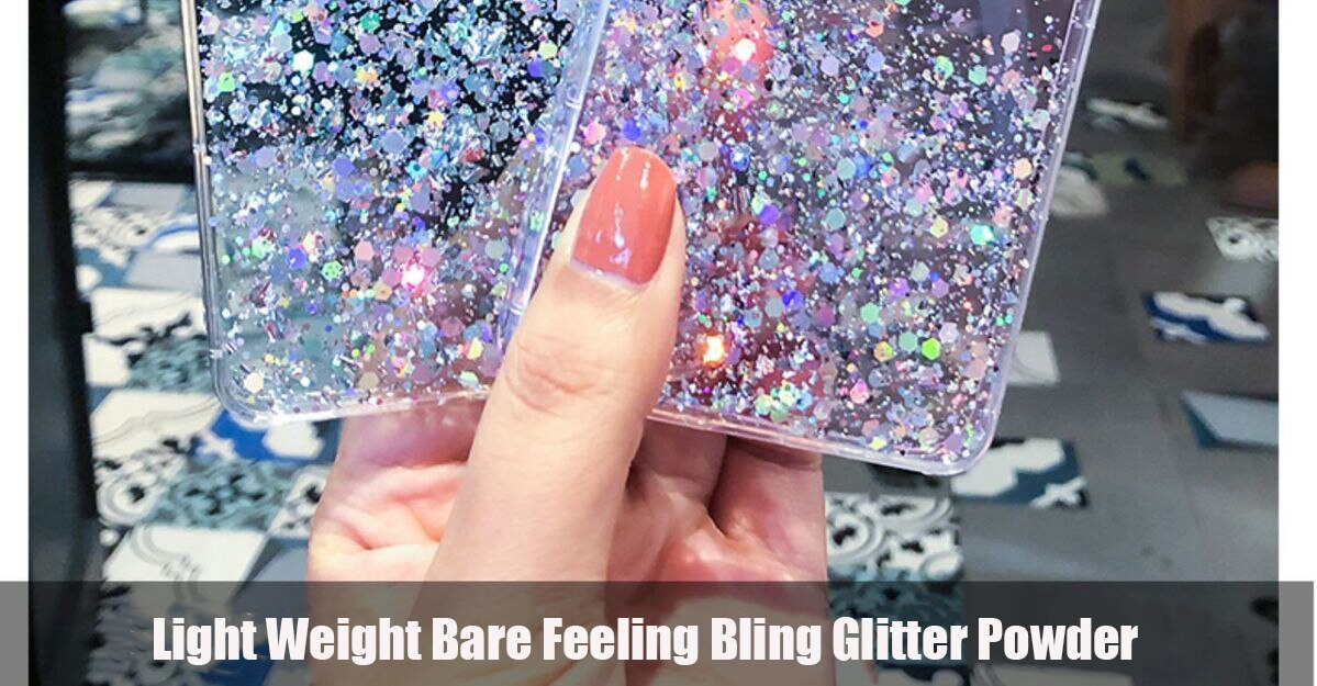 Silver Foil Glitter Powder Phone Case For Samsung Galaxy S21 Note S20FE Ultra S8 9 10 Plus Lite A51 71 5G Soft TPU Clear Cover