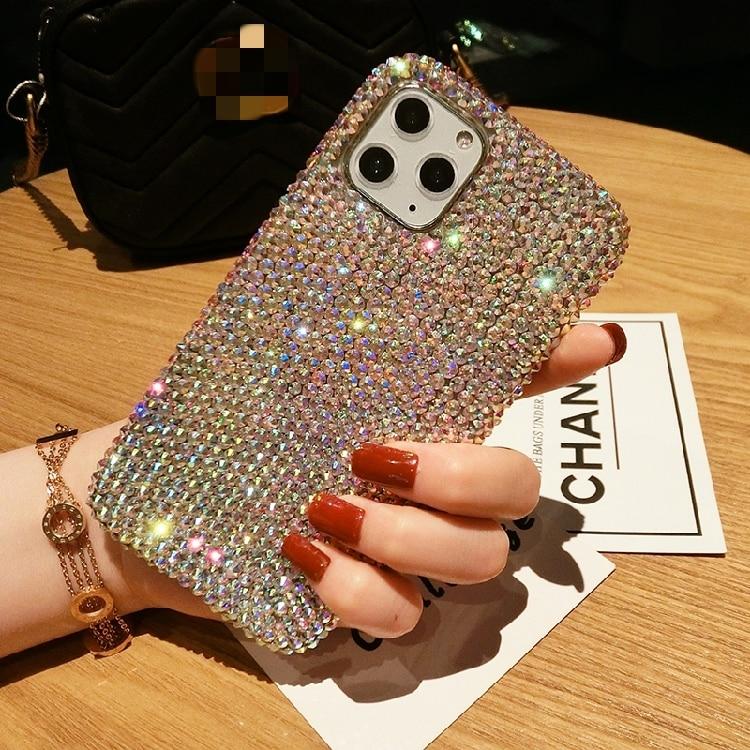Luxury fashion Bling Rhinestone Gem diamond Soft phone case for apple iPhone 6 6S 7 8 X XS XR 11 Pro Max 12 MiNi Glitter cover
