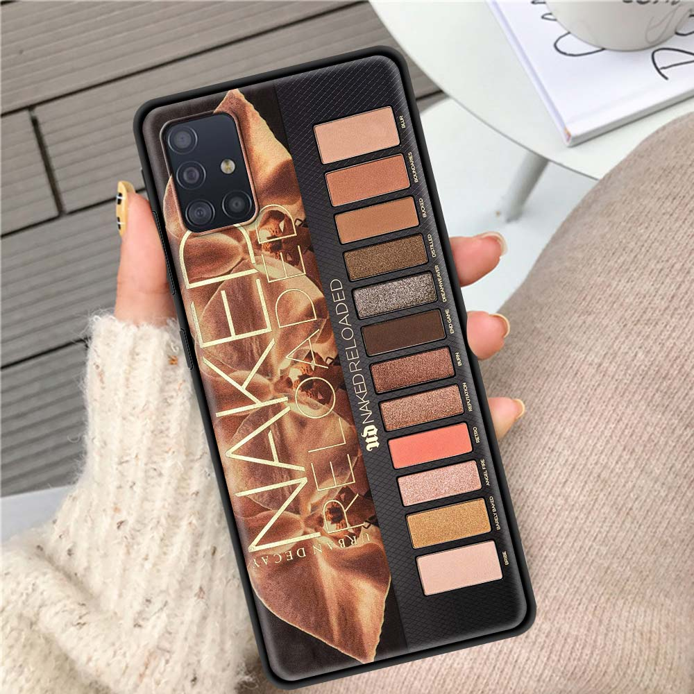 Makeup Eyeshadow Palette Case For Samsung Galaxy A51 A71 A21s A31 A41 A11 A12 A01 A91 A32 5G Black Shells Phone Sheath Bolso Cas