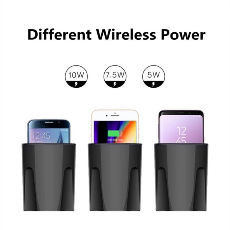 Car Cup Wireless Charger With USB Output QI Wireless Charger Car Cup Phone Holder Charging Mobile Phone Chargers Phones
