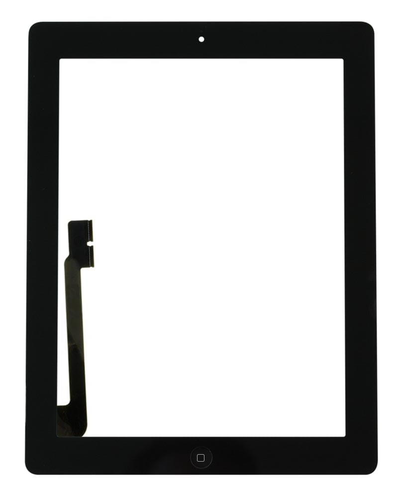 Display, Glas, Digitizer - iPad 3/4 - Vit/White
