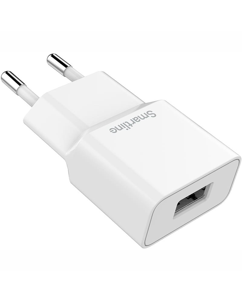 Smartline Väggadapter 1A, 1st USB Port, Vit