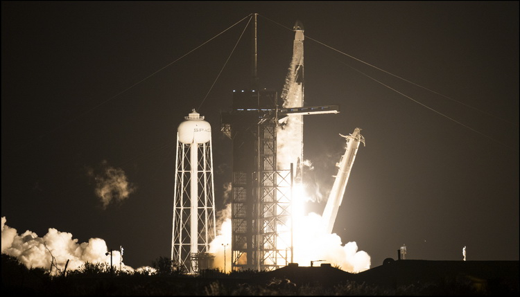 SpaceX successfully launches Crew Dragon with crew to ISS
