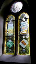 Memorial window to Laurie Lee