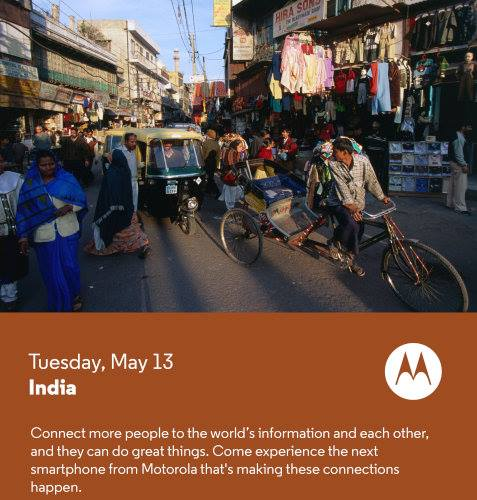 Motorola May 13 India Invite