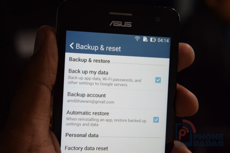 Asus Zenfone 5 Tip Backup and Reset