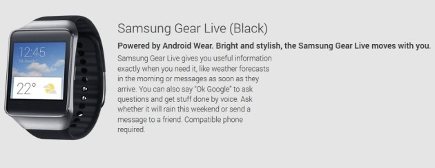 Samsung Gear Live Play Store