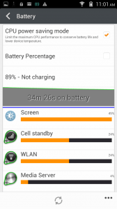 Gionee E7 Mini Battery Test - Music Playback