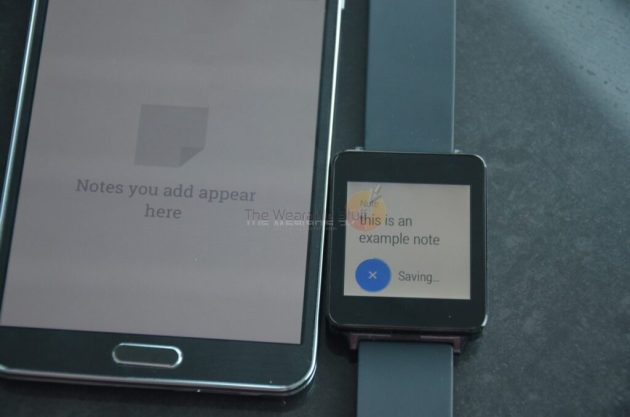LG G Watch tip notes