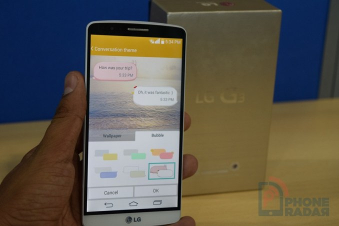 LG G3 Tip Messaging App