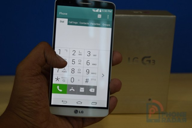 LG G3 Tip One Handed Operation