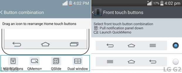 LG G3 Vs LG G2 button combination 9