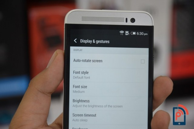 HTC One E8 - Display _ Gestures