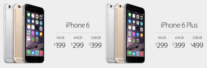 iPhone 6 and 6 Plus Pricing