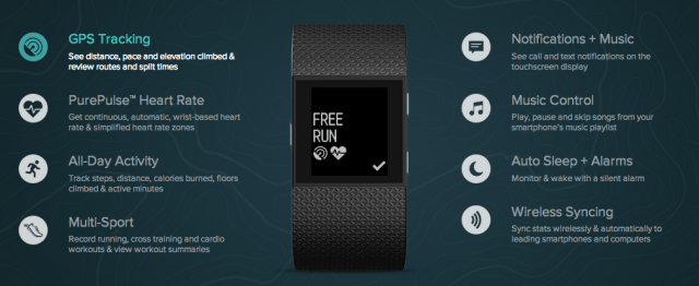 Fitbit Surge Features