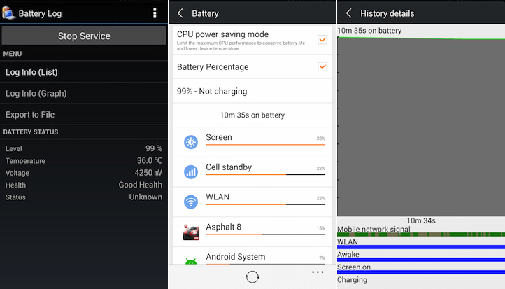 Gionee Marathon M3 Battery Usage Gaming