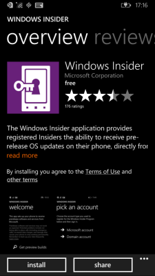 Windows 10 Preview for Phones - Insider App