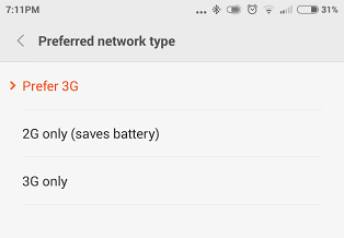 Xiaomi Mi4 Connectivity Network