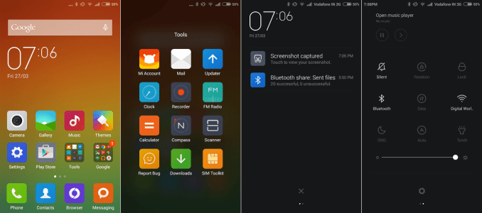 Xiaomi Redmi 2 Interface