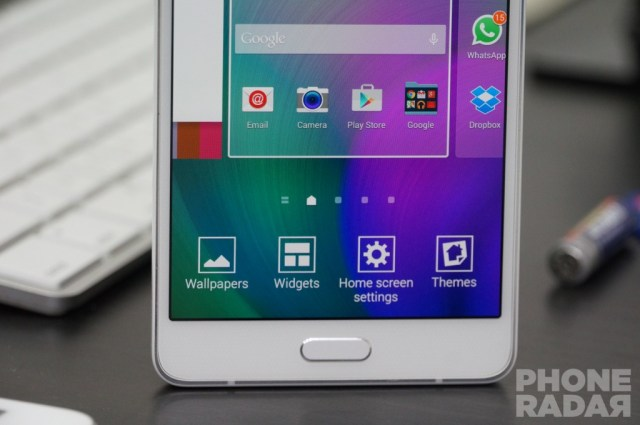 Samsung Galaxy A7 Home Screen Options