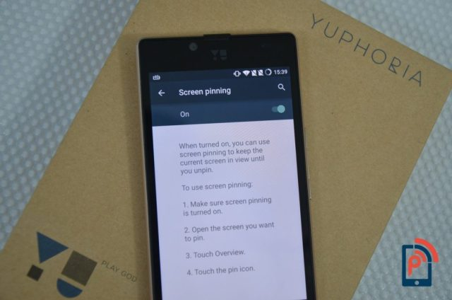 Yu Yuphoria - Screen Pinning
