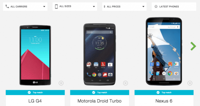 Android Phone Selections