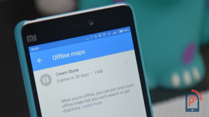 Offline maps on Google