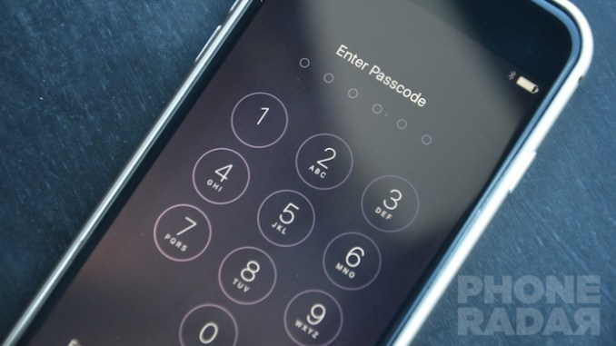 iOS 9 6-digit passcode
