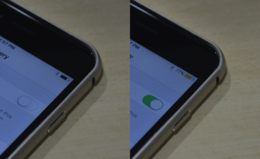 iOS 9 Low Power Mode enabled