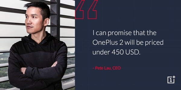 OnePlus 2 Price Pete Lau