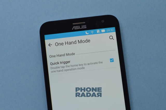 Asus Zenfone laser one hand mode