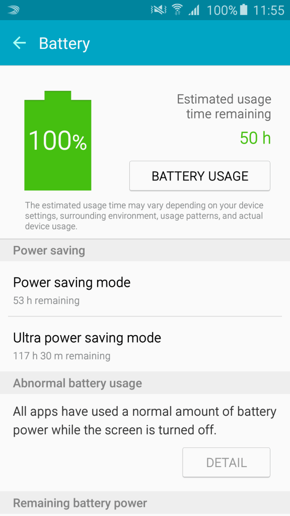 Samsung Galaxy A8 - Battery Stats (1)