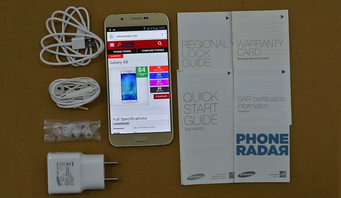 Samsung Galaxy A8 - Unboxing