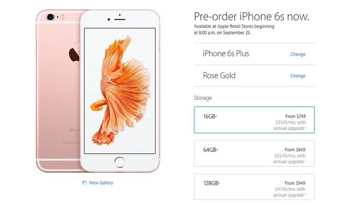 Apple iPhone 6s Plus - Pricing