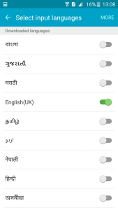 Regional Language Set up