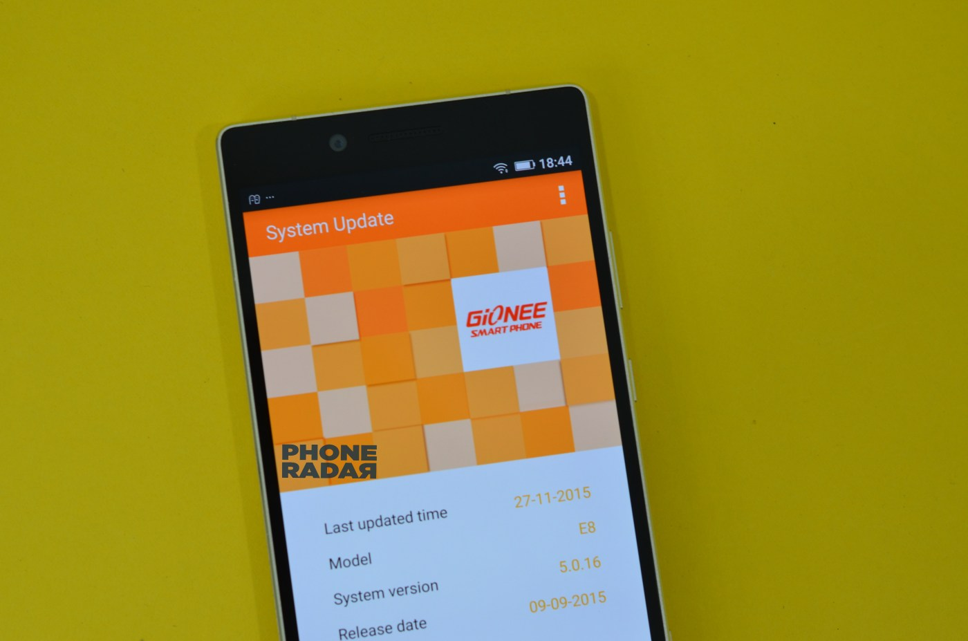 Gionee Elife E8 System update
