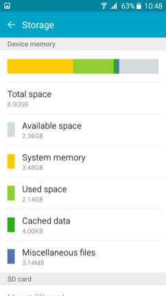 Samsung Galaxy On5 - Cache Cleared