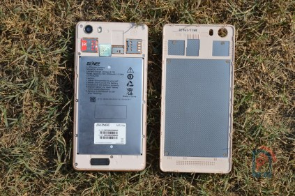 Gionee Marathon M5 Lite - Opened Backpanel